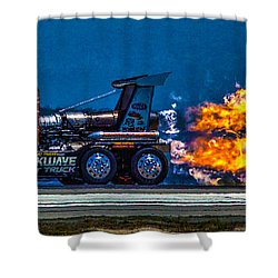 Shock Wave 2836 Shower Curtain