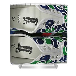 Shower Curtain featuring the painting Shoe Art - 009 by Mudiama Kammoh