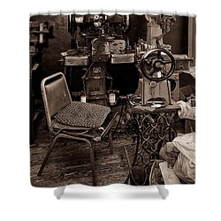 Shoe Hospital - Sepia Shower Curtain by Christopher Holmes