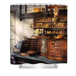 Shoe Maker - Shoes For Sale Shower Curtain by Mike Savad