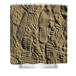 Shoe Prints II Shower Curtain