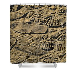 Shoe Prints Shower Curtain