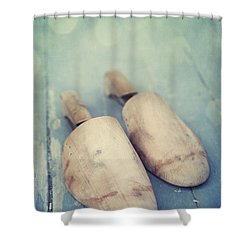 Shoe Trees Shower Curtain by Priska Wettstein