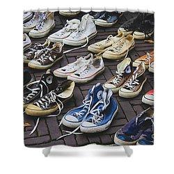 Shoes At A Flea Market Shower Curtain