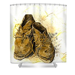 Shower Curtain featuring the photograph Shoes by John Stephens