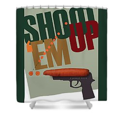 Shoot 'em Up Movie Poster Shower Curtain