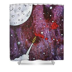 Shower Curtain featuring the painting Shoot For The Stars by Nathan Rhoads