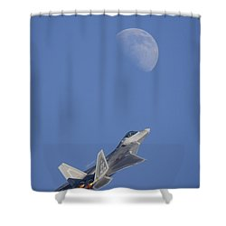 Shower Curtain featuring the photograph Shoot The Moon by Adam Romanowicz