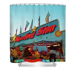 Shower Curtain featuring the photograph Shooting Star by Cindy Garber Iverson