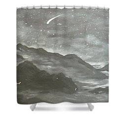 Shooting Star  Shower Curtain by Irina Astley