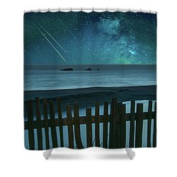 Shooting Stars Shower Curtain by Marius Sipa