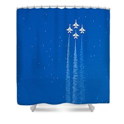 Shooting Stars Shower Curtain by Paul Ge