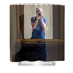 Shooting The Photographer Shower Curtain