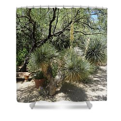 Shooting Up Cactus Garden Shower Curtain