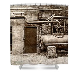 Building At Sloss Shower Curtain by Phillip Burrow