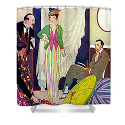 Shower Curtain featuring the photograph Shopping 1914 by Padre Art
