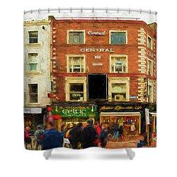 shopping on Grafton Street in Dublin Shower Curtain