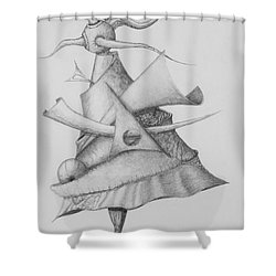 Shower Curtain featuring the drawing Plasma Tree by Charles Bates
