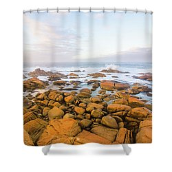 Shore Calm Morning Shower Curtain by Jorgo Photography - Wall Art Gallery