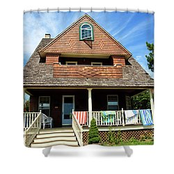 Shower Curtain featuring the photograph Shore House by John Rizzuto