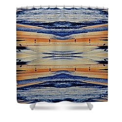 Shore Lines Shower Curtain