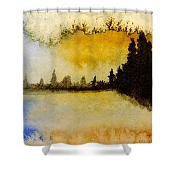 Shoreline 2 Shower Curtain by R Kyllo