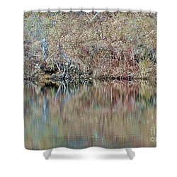 Shower Curtain featuring the photograph Shoreline by Christian Mattison
