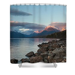 Shower Curtain featuring the photograph Shoreline by Fran Riley