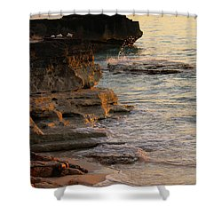 Shoreline In Bimini Shower Curtain
