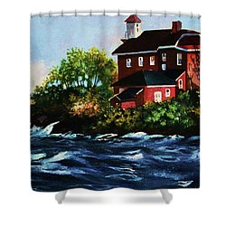 Shoreline Light Shower Curtain