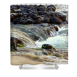 Shower Curtain featuring the photograph Shoreline by Lori Seaman
