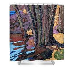 Shoreline Maples Shower Curtain