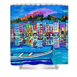 Shores Of Italy Shower Curtain