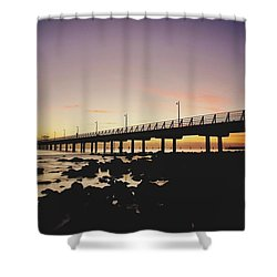 Shorncliffe Pier At Dawn Shower Curtain