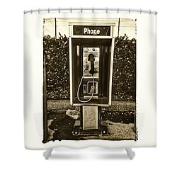 Short Stack Pay Phone Shower Curtain