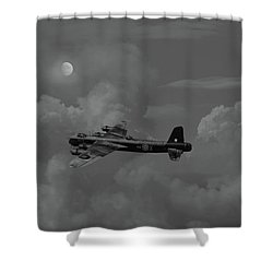 Short Stirling - 7 Sqdn Remembered Shower Curtain