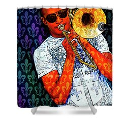 Shorty Shower Curtain by Tammy Wetzel