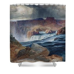 Shoshone Falls Idaho Shower Curtain by Thomas Moran