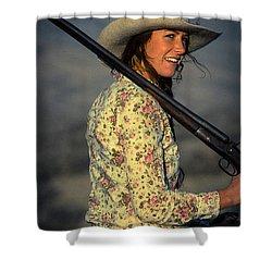 Shotgun Annie Western Art By Kaylyn Franks Shower Curtain