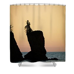 Shovel Point On Lake Superior Shower Curtain by Heidi Hermes