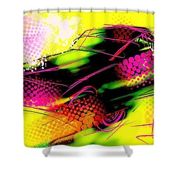 Shower Curtain featuring the painting Show Car by Jim Vance