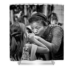 Shower Curtain featuring the photograph Show Me by Wallaroo Images
