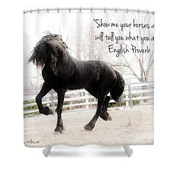 Show Me Your Horse Shower Curtain