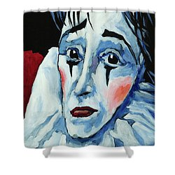 Shower Curtain featuring the painting Show Must Go On by Igor Postash