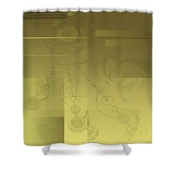 Shower Curtain featuring the digital art Shower Curtain No 4 by Robert G Kernodle