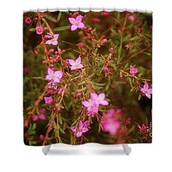 Shower Of Pink Shower Curtain
