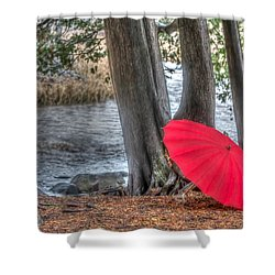 Showers At The River Shower Curtain