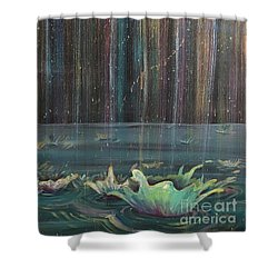 Shower Curtain featuring the painting Showers Of Providence by Lisa DuBois