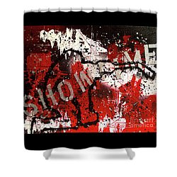 Showtime At The Madhouse Shower Curtain by Melissa Goodrich