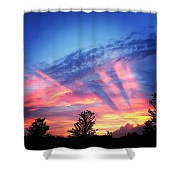 Showtime Sunset Shower Curtain